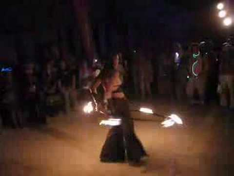 Miss Rosie On Fire at Burning Man 2007