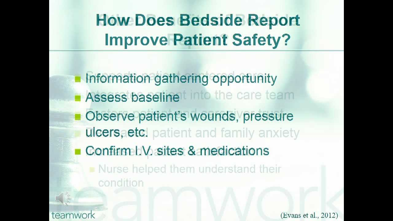 Bedside Report PPT - YouTube