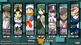 Evolution of Pokémon Trainer Battle Themes 1996-2016 (HQ)