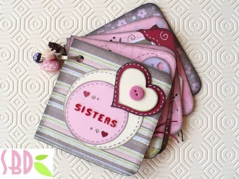 Scrapbooking Tutorial: Mini Album Sisters + qualche TRUCCO