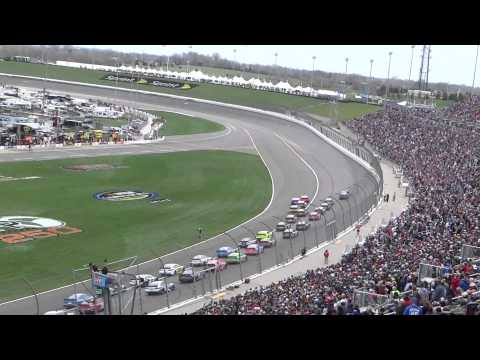 2013 KANSAS SPEEDWAY - NASCAR RACING RESTART - #1 FRONT ROW TO LAST