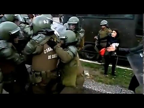 Chile: Policía manosea a estudiante aprehendida durante protesta por educación gratuita