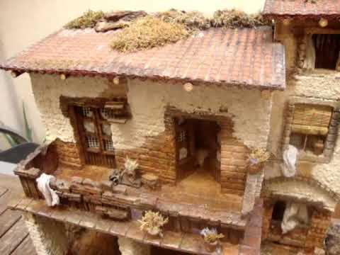 1107 pesebre tipo casa para figuras de 10 12 cm youtube - Casas para belenes hechas a mano ...