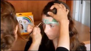 "How to make easy funny Pokemon GO ""Bulbasaur"" face painting for kids tutorial"