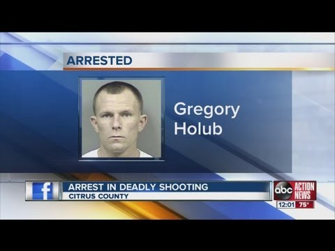 Deputies arrest Gregory Holub, the man wanted in woman's fatal shooting in Citrus County