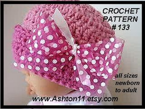 NEWBORN PINK POLKA DOT HAT, free crochet pattern, baby hat, accessories, clothing