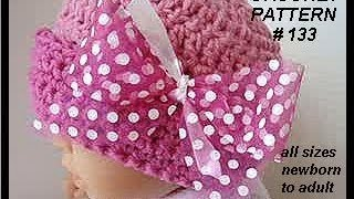 Download NEWBORN PINK POLKA DOT HAT, free crochet pattern, baby hat, accessories, clothing 3Gp Mp4