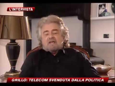 Intervista Beppe Grillo sky tg 24 Maria Latella  parte 2/4