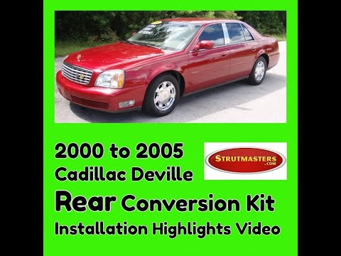 2000-2005 Cadillac Deville Rear Electronic/Air Suspension Conversion Installation