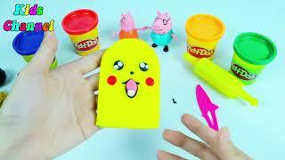 Bống Bống Bang Bang ♫♫♫ Nhạc Thiếu Nhi Remix sôi động ❤ Đồ chơi đất sét nặn playdoh Pikachu
