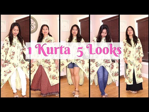 🇮🇳 HOW TO STYLE A KURTA || 5 WAYS TO STYLE A KURTA || KURTA LOOKBOOK 2019
