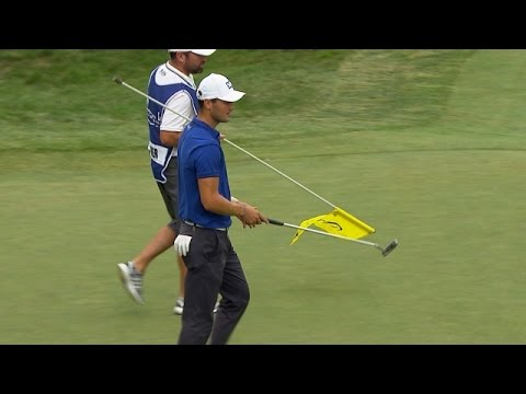 Martin Kaymer delivers a monster birdie putt at Deutsche Bank