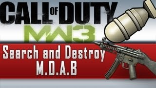MW3 : SEARCH AND DESTROY MOAB MP5! (NO RIOT SHIELDERS) SnD