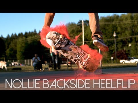 Nollie Backside Heelflip | 5 Angle Slow Motion Breakdown (Feat: Anthony Grant)