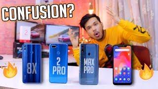 KONSA BEST HAI?? ZenFone Max Pro M2,RealMe 2 PRO, RealME U1,Honor 8X,Mi Note 6 Pro🔥😂😱