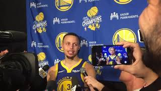 Steph Curry  Postgame Interview  Golden State Warriors vs Denver Nuggets 15/01/2019