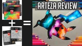 Arteza Colored Pencils vs Prismacolor + Arteza Toned Gray | Unboxing and Product Review | 2019