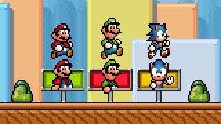 Super Mario Bros X (SMBX 1.4.4) - ''SONIC GOALPOST''. HD