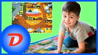 Kids Tonka Town Rug Fun Playtime with Hot Wheels and Disney's Cars