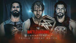 WWE Battleground Promo 2016 - Dean Ambrose vs Seth Rollins vs Roman Reigns