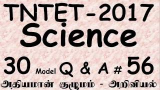 TET Science Questions and Answers  2017 - TNTET Science Model Questions and Answers