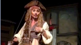 Johnny Depp surprises Disneyland guests as Jack Sparrow in Pirates of the Caribbean ride by : Inside the Magic