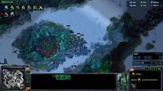 RL Agent(T) vs Harder Blizzard AI(P) in StarCraft 2