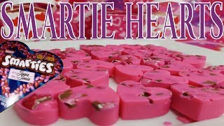 HOW TO MAKE GOURMET CANDY HEARTS | SMARTIE HEARTS