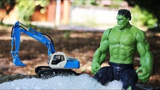 The Hulk Cleaning Car Wash Construction Vehicles Toys