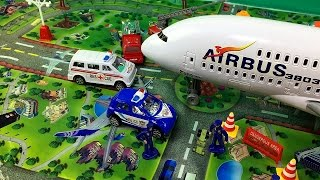International Toy Airplane Playset Internacional de Brinquedos Avião Playset Toy Video for Children