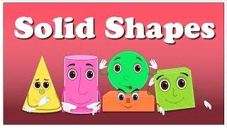 Solid Shapes for Kids | #aumsum #kids #shapes #shapesforkids #solid