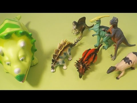 Dinosaur Toys Video for Kids Triceratops w/ Lights and Sound