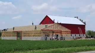 Ohio White Amish Barn Raising In 10 Hours - Time Lapse