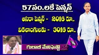 CM KCR Doubles Asara and Handicapped Pension | TRS manifesto | NTV