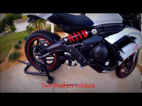 2013 Kawasaki Ninja 650 Two Brothers full exhaust