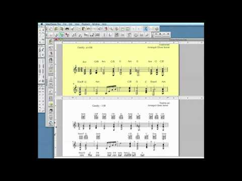 Converting notation to a tablature score