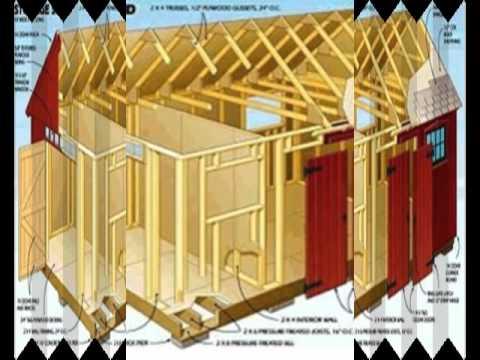 10x12 storage building plans