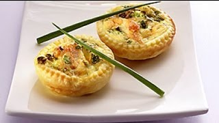 GREAT PARTY APPETIZERS: MINI QUICHE FILLED WITH BACON, MUST SEE RECIPE!!!
