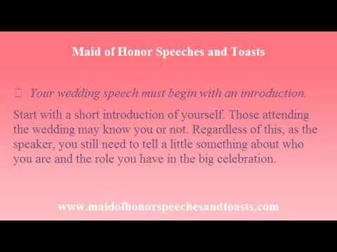 Maid Of Honor Speech Write Your Speech And Toast The