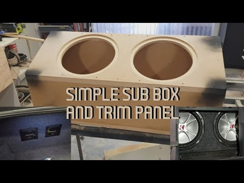 Building Simple Sub Box And Trim Panel In A VS Statesman!!