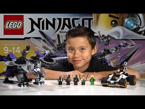 NINDROID MECHDRAGON - LEGO NINJAGO 2014 Set 70725 - Time-lapse Build. Unboxing & Review!