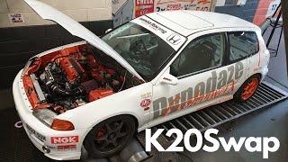 Honda Civic EG K20swap Shake Down on Lockdown