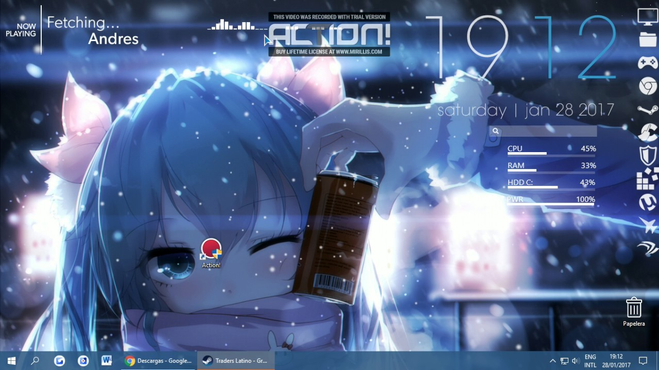 Wallpaper Engine Anime Rain