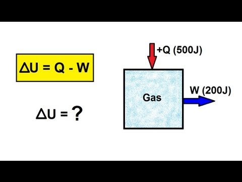 Physics - Thermodynamics: (1 of 22) What is the First Law of Thermodynamics?