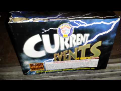Current Events 350 gram cake by Brothers Pyrotechnics demo and review