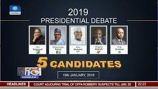 ACPN, APC, PDP, YPP, ANN Presidential Candidates Prepare For Debate 18/01/19 Pt.2 |News@10|