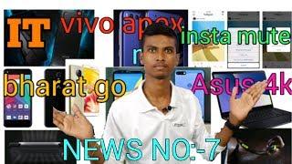 interesting technology news no:-7 .vivo apex,instagram mute,mi 8,mi router air purifier etc in hindi