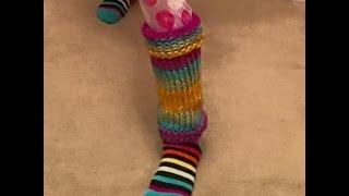Easy Loom Knit Leg Warmer