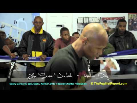 ZAB JUDAH Media Day Workout for his April 27th fight against DANNY &quot;Swift&quot; GARCIA