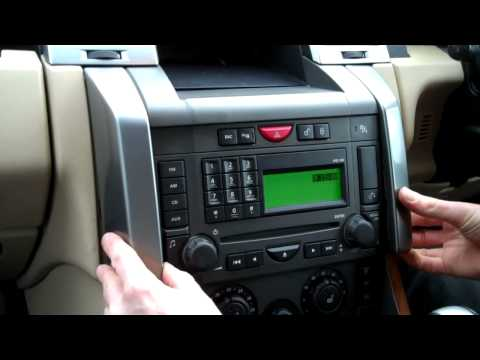 How to change the radio side panels on a Range Rover Sport